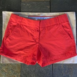 J. Crew Chino City Fit Red Shorts (NWT)